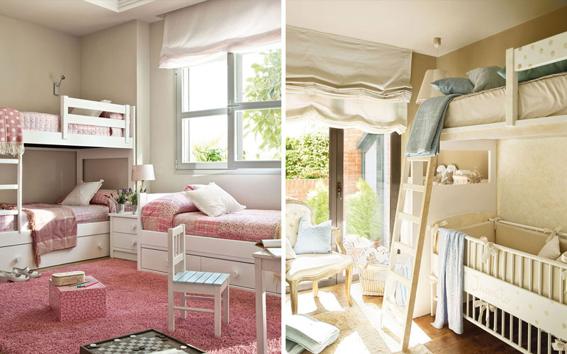 Как поставить двухъярусную кровать в детской (80+ фото): планировка