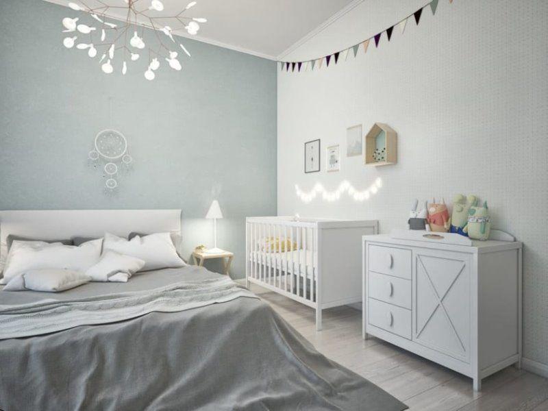 Спальня для родителей и ребенка