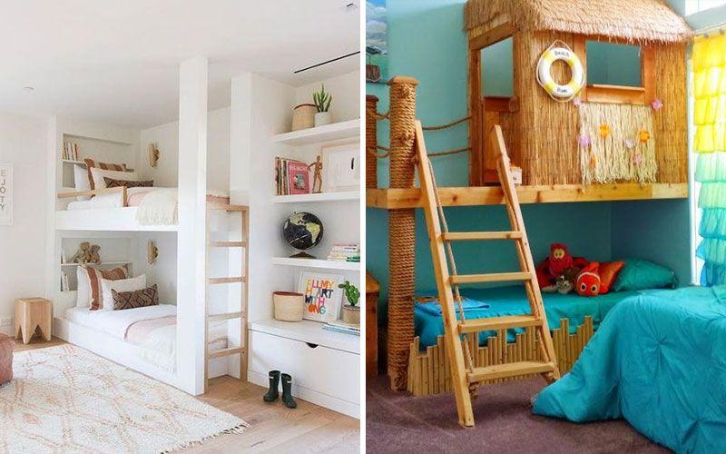 Двухъярусная кровать в интерьере детской