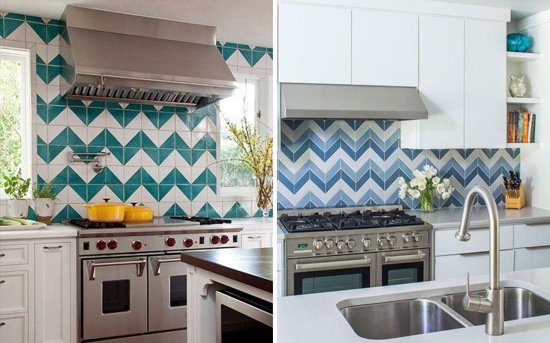 Узоры из плитки на кухне