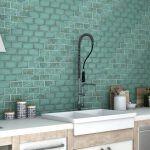 Как красиво выложить плитку на фартуке в кухне: варианты раскладки + 50 фото