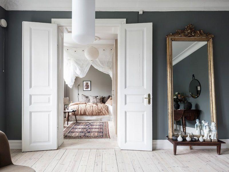 Двухкомнатная квартира 46 м. в Швеции - спальня