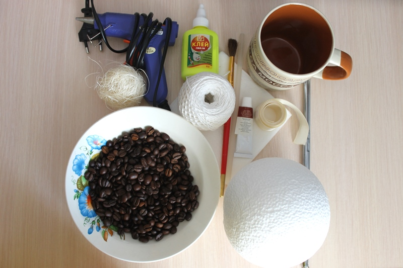 Топиарий из кофе