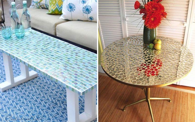 Декорирование столика мозаикой своими руками