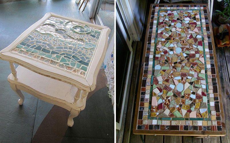 Декорирование журнального столика мозаикой