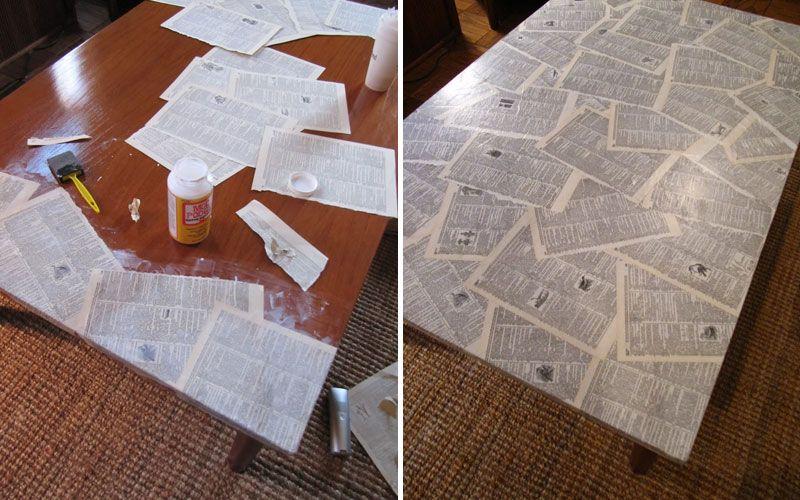 Декорирование журнального столика декупаж