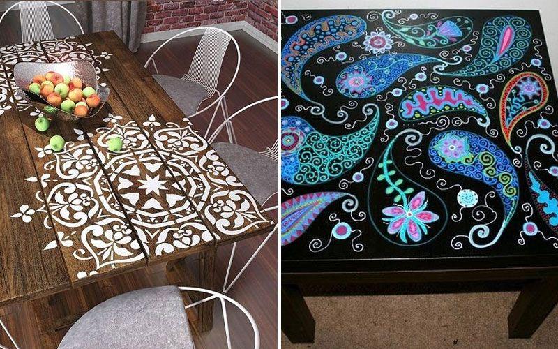 Роспись кофейного столика