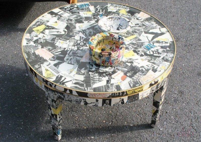 Декорирование столика декупаж