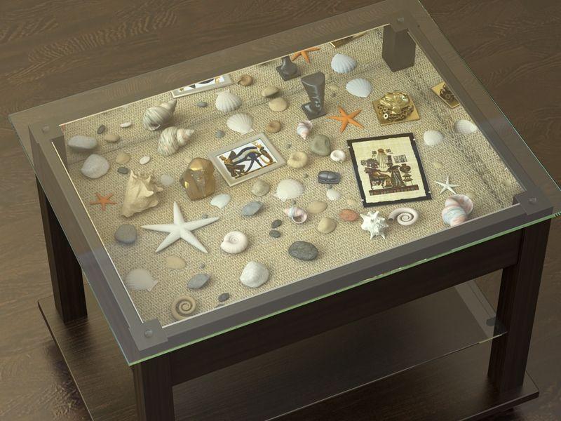 Декорирование столика стеклом