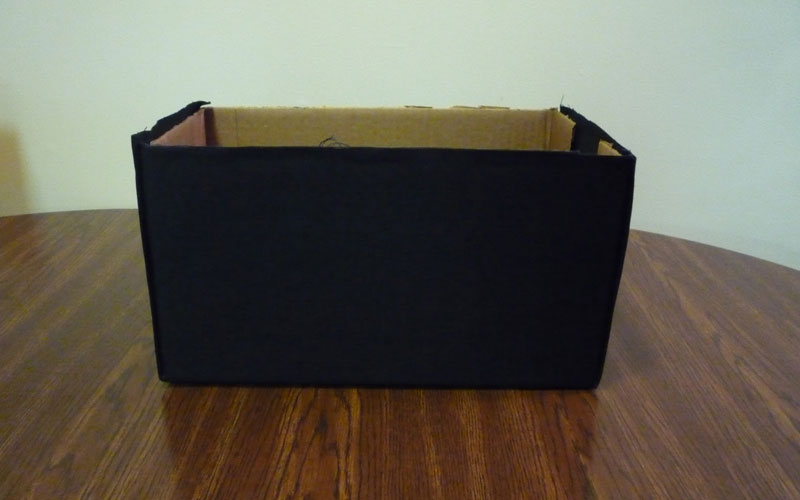 Декоририрование коробки для хранения