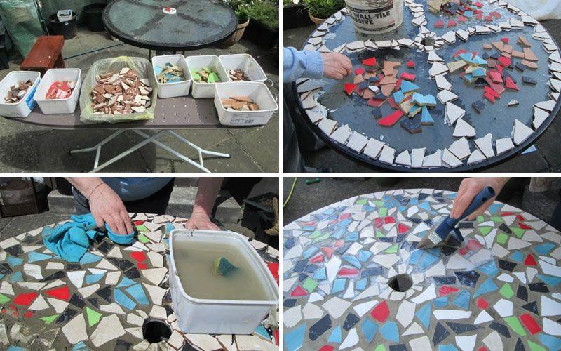 Декорирование столика мозаикой