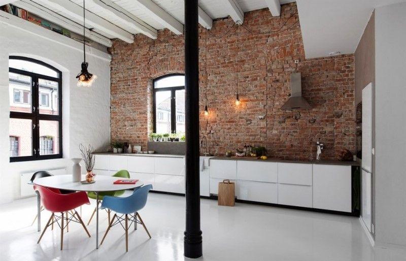 Потолочные балки на потолке в стиле лофт