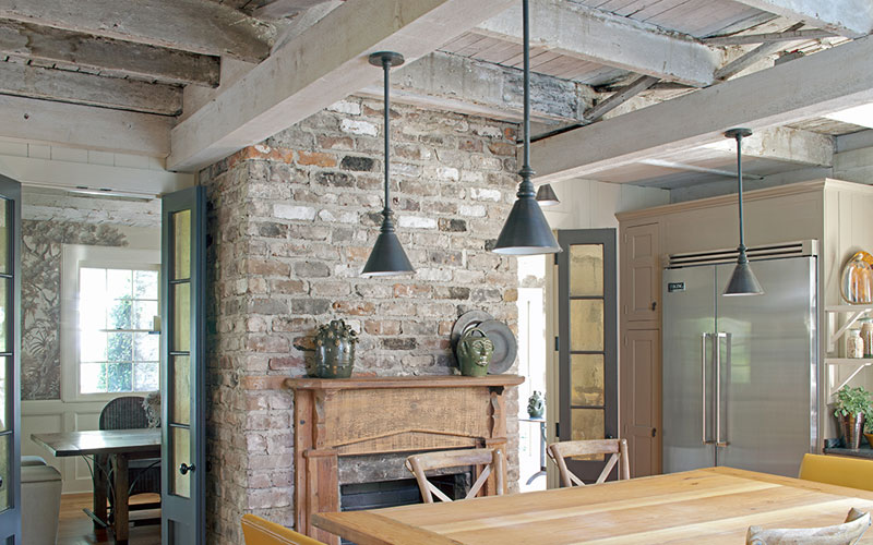 Потолочные балки в стиле лофт
