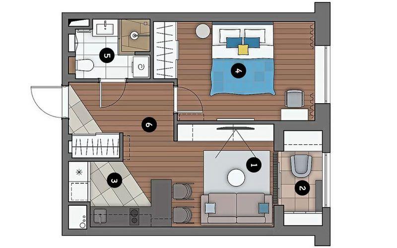 Однокомнатная квартира 40 метров