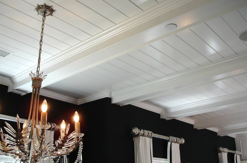 Декоративные балки на потолке