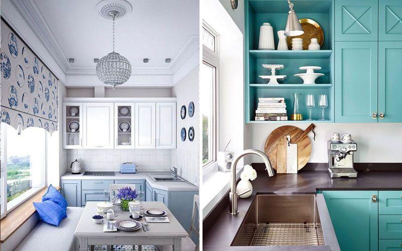 Угловая кухня площадью 9 метров - дизайн интерьера