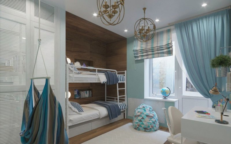Интерьер комнаты для двух мальчиков разного возраста: планировка, зонирование, дизайн (50+ фото идей)