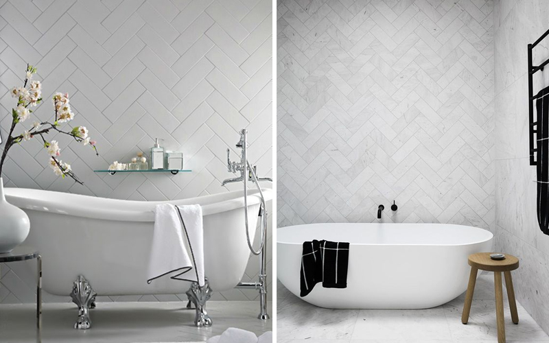Кабанчик белого цвета в ванной комнате