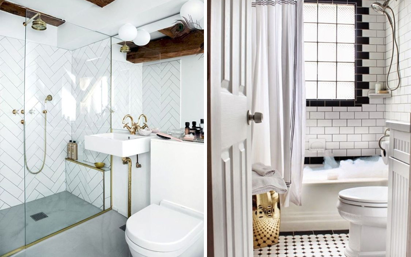 Кабанчик белого цвета в ванной