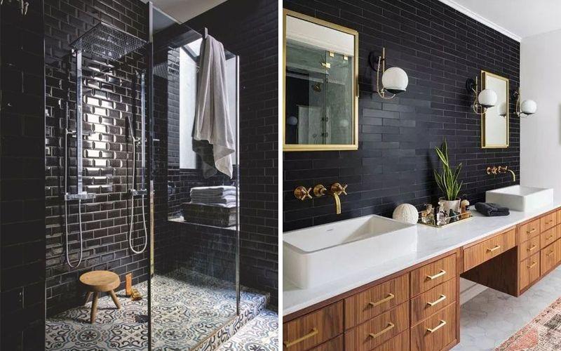 Кабанчик темного цвета в ванной