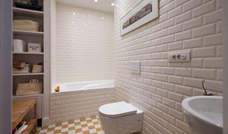 """Как красиво выложить плитку """"Кабанчик"""" в ванной — варианты раскладки и дизайна + фото"""