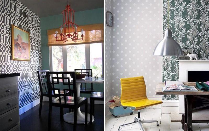 Идеи комбинирования обоев в интерьере: дизайн, советы экспертов (+100 фото)