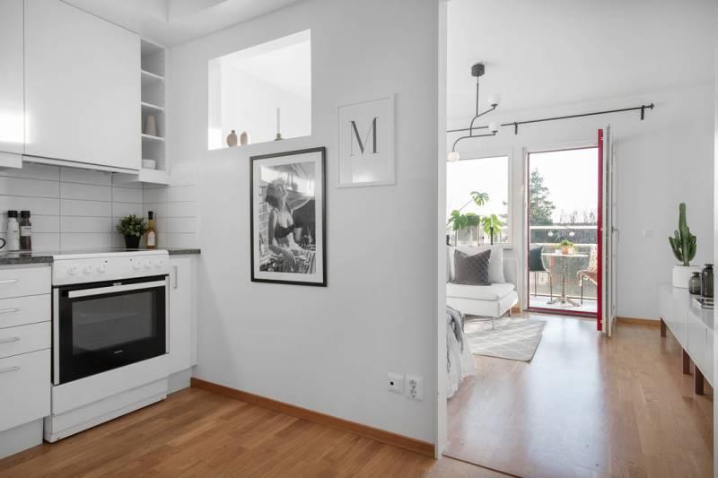 Обзор квартиры-студии в Швеции 31 кв.метр