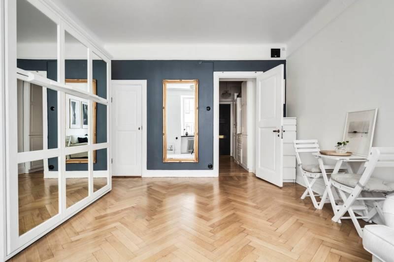 Светлая квартира-студия 31 метр, скандинавский стиль