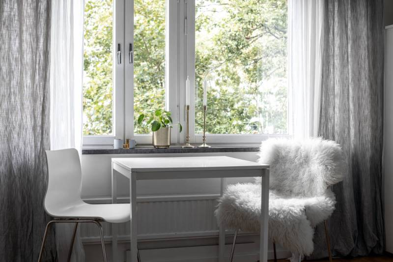 Однокомнатная квартира в скандинавском стиле 30 метров