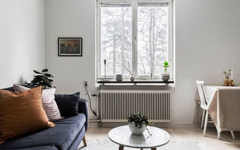 Дизайн однокомнатной квартиры 30-32 метра: светлый скандинавский интерьер (5 фото обзоров)