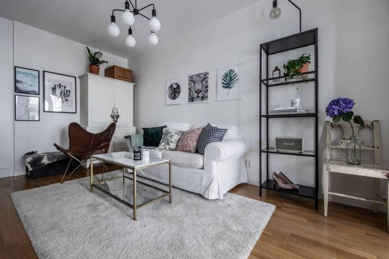 Скандинавский стиль в квартире-студии 32 метра
