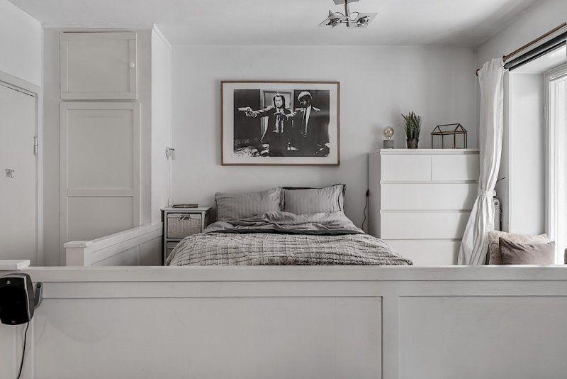 Скандинавский стиль в однокомнатной квартире 32 кв.метра