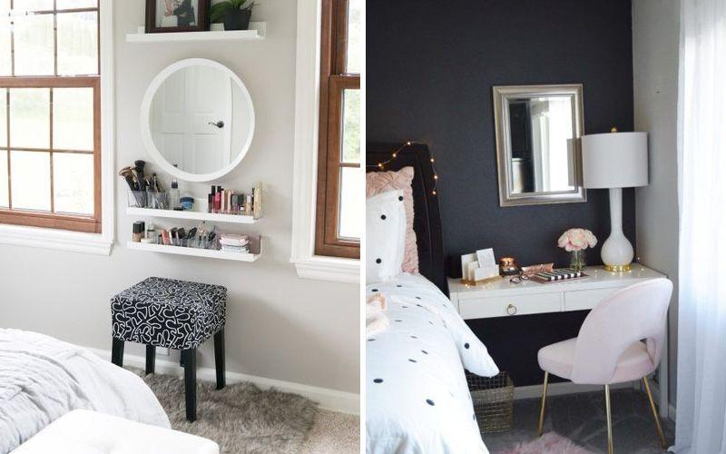 Современный туалетный столик с зеркалом для спальни: фото и дизайн