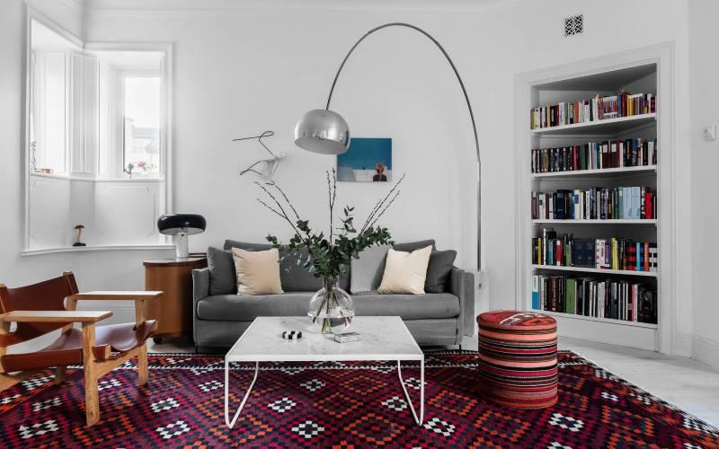 Светлая трехкомнатная квартира в Швеции: фото-обзор