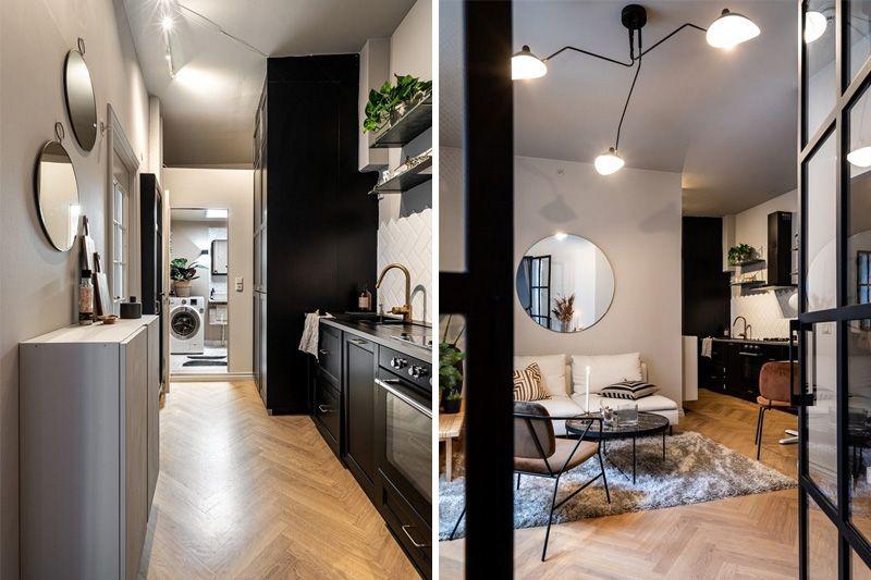 Функциональный интерьер в маленькой квартире 41 метр