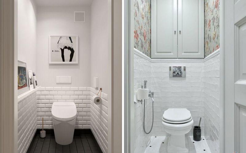 Коасивый современный дизайн интерьера в туалете хрущевке