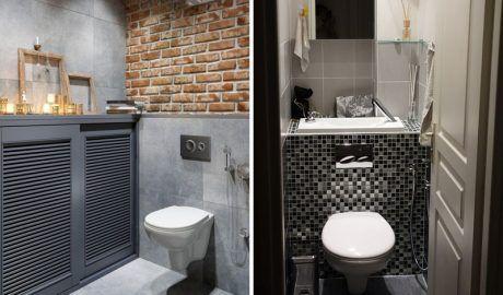Современный интерьер в туалете в хрущевке