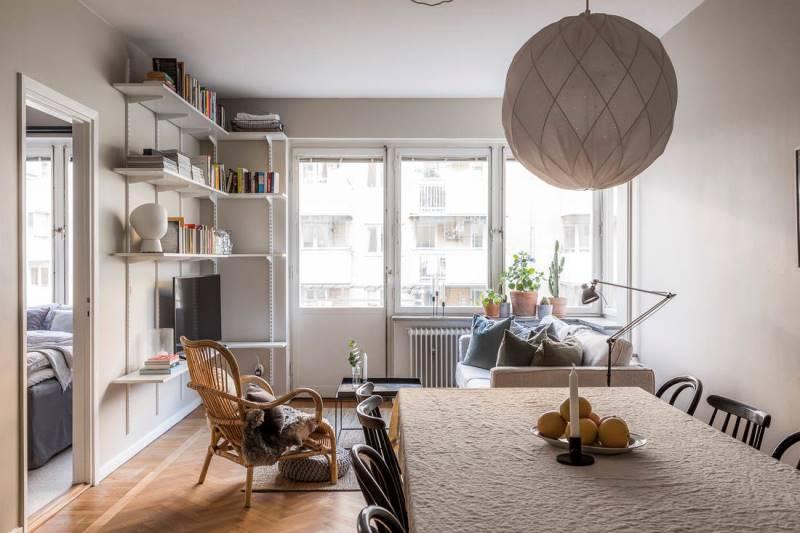 Двухкомнатная квартира 46 метров - дизайн и планировка - 2