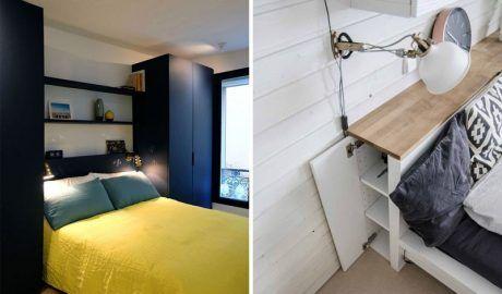 Полки над кроватью в спальне: 50 фото идей в интерьере