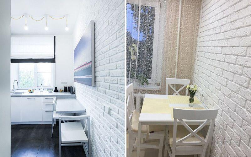 Декоративная отделка под кирпич в интерьере квартиры: 70 фото интересных идей