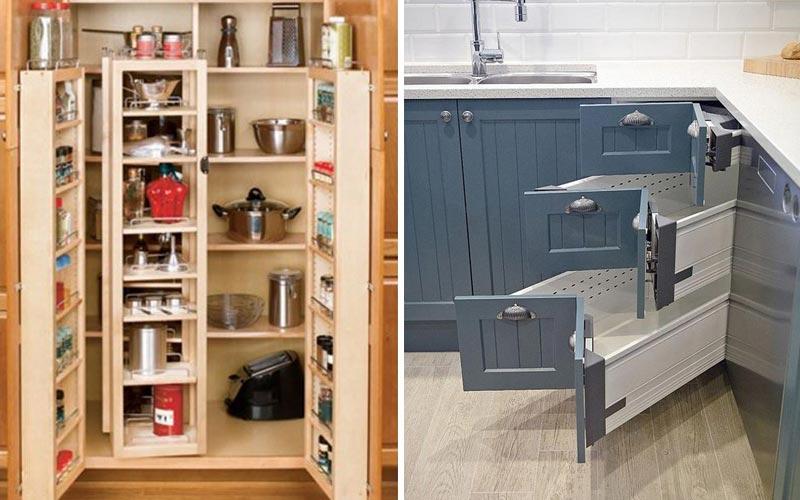 Удобные места хранения на кухне
