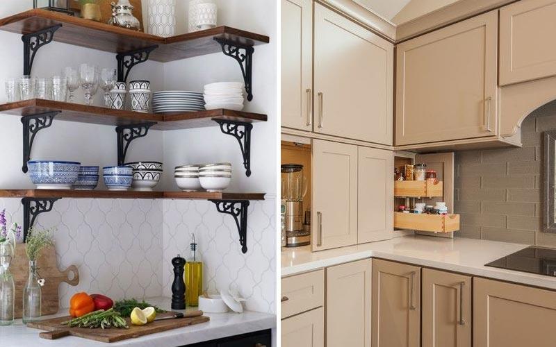Удобные места хранения на кухне - угловые модули