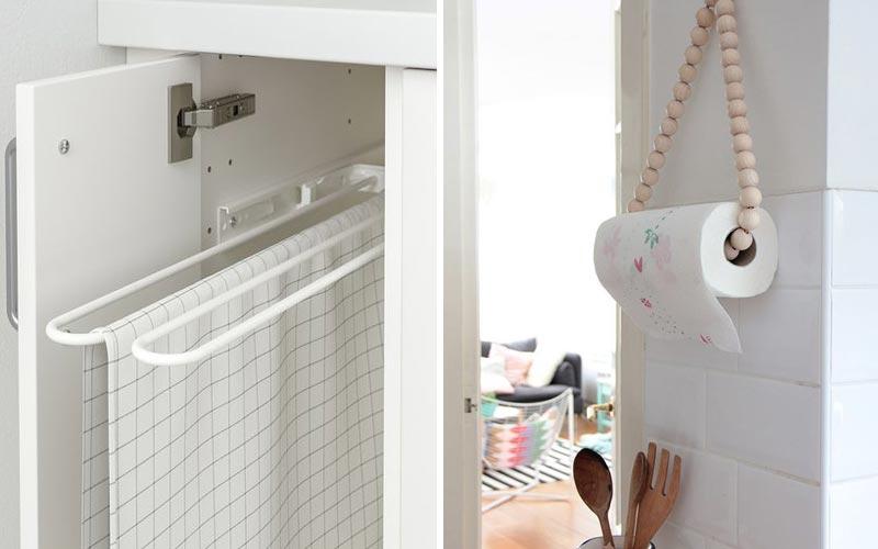 Удобные места хранения на кухне - полотенца и салфеткиУдобные места хранения на кухне - полотенца и салфетки