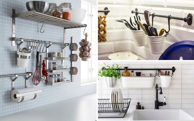 Организация хранения на кухне с фото - рейлинги
