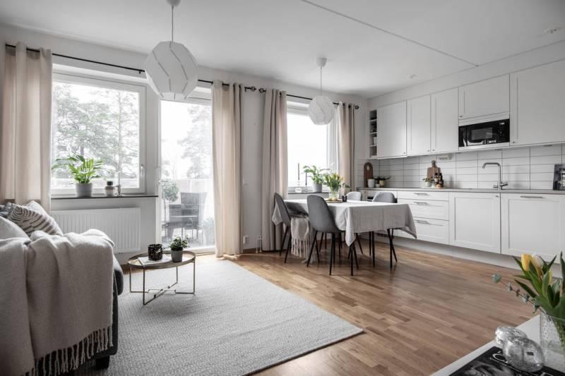 Двухкомнатная квартира в скандинавском стиле 46 метров - 0 - 0