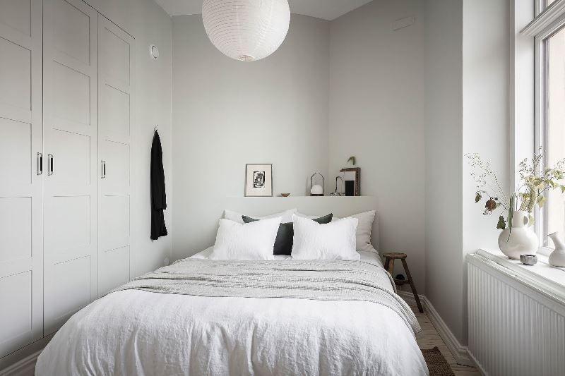 Двушка с совмещенной кухней-гостиной 46 метров - спальня