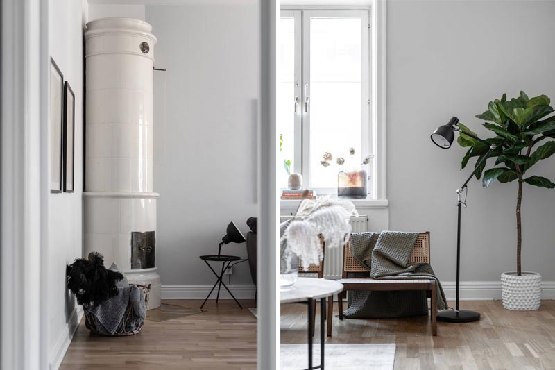 Дизайн двушки площадью 46 метров в старом доме с камином - 7