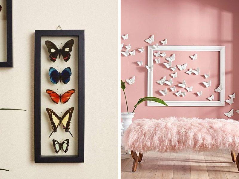 Композиции из бабочек на стену