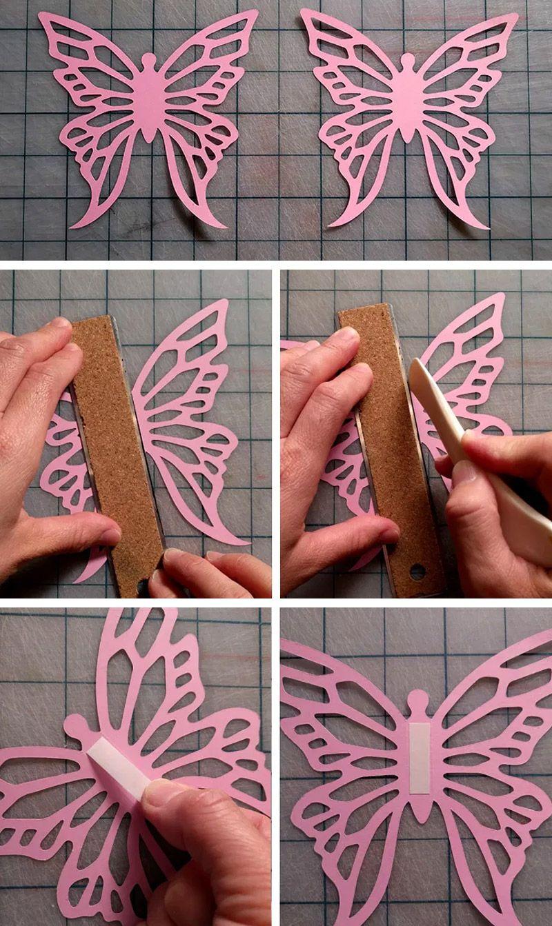 Ажурные бабочки из бумаги своими руками