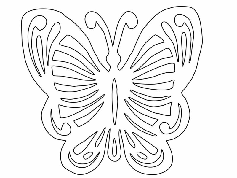 Ажурная бабочка из бумаги